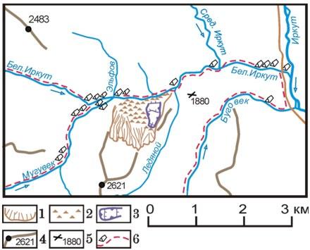 Схема расположения потока