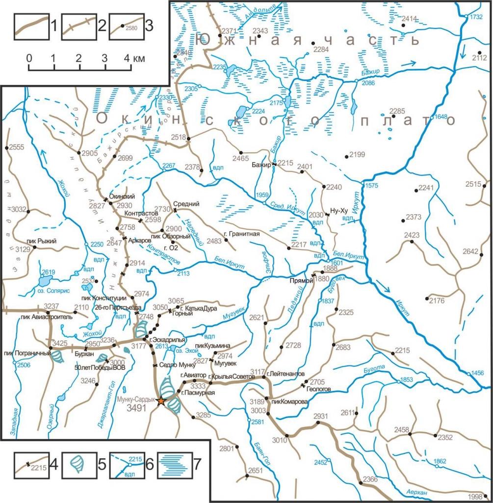 Орогидрографическая карта