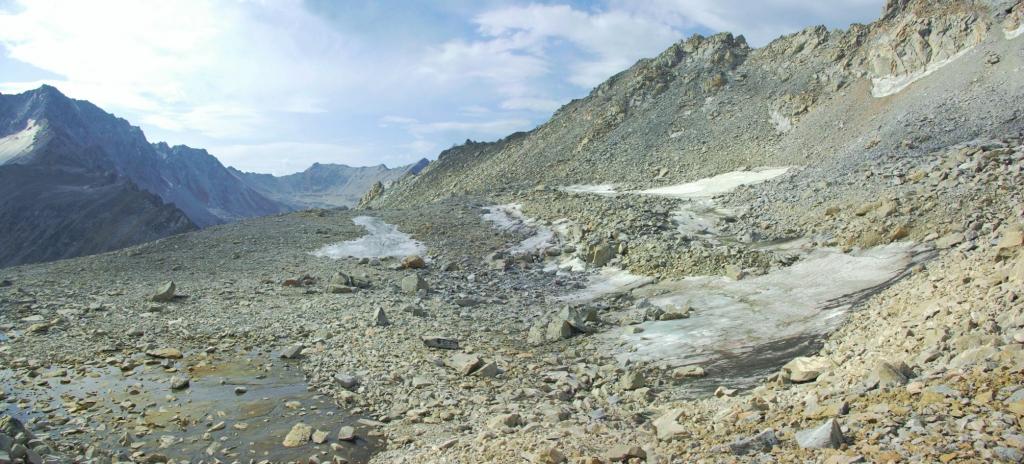Фотопанорама ледника Энтузиастов