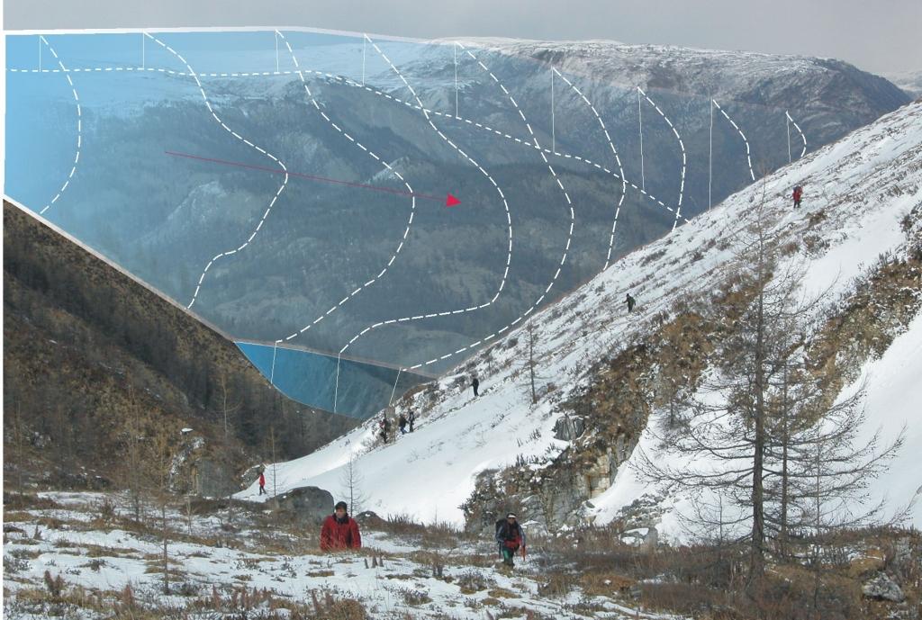 Фото-реконструкция Окинского ледника