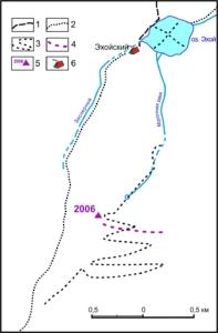 Сх. движения радара по леднику
