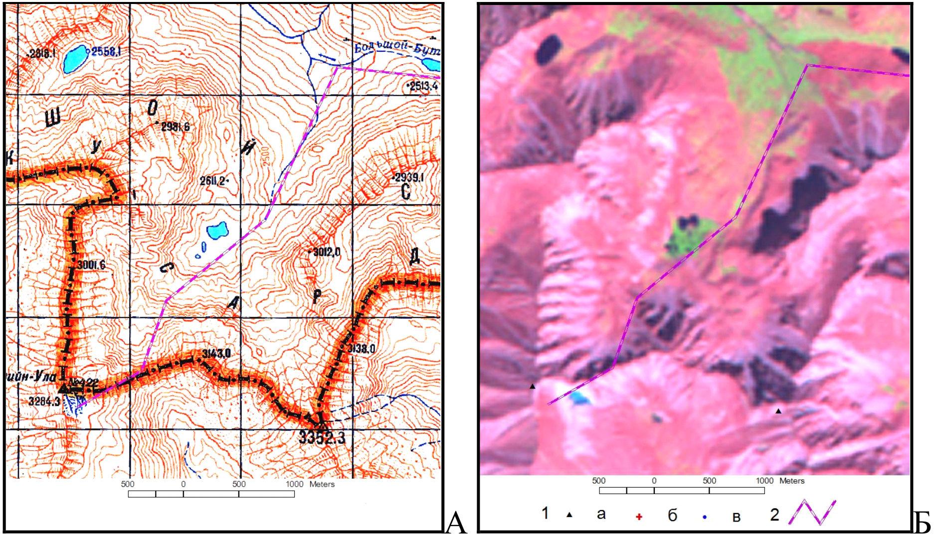 Карта р-на Абшаны