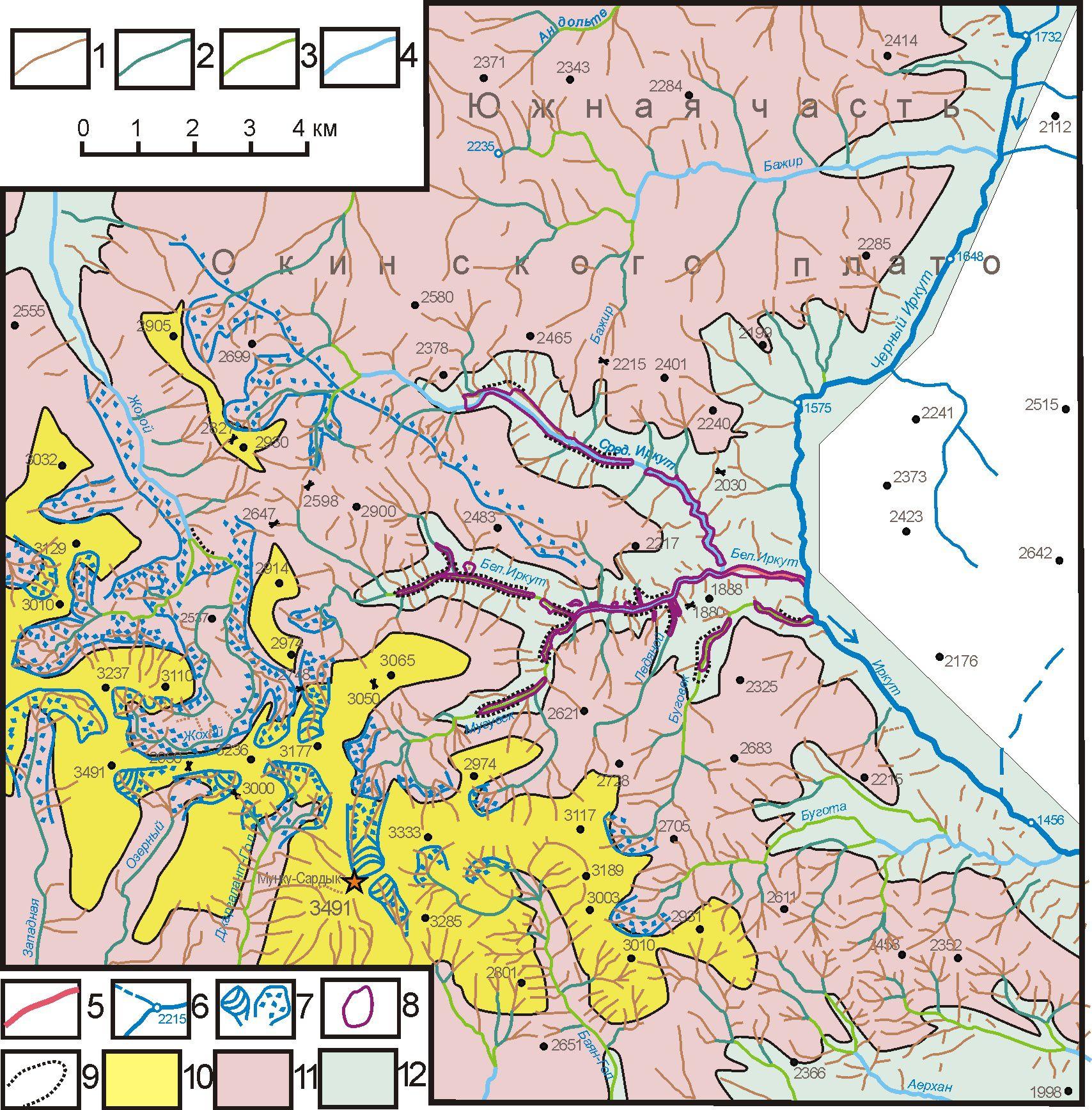 Карта геоморфологическая