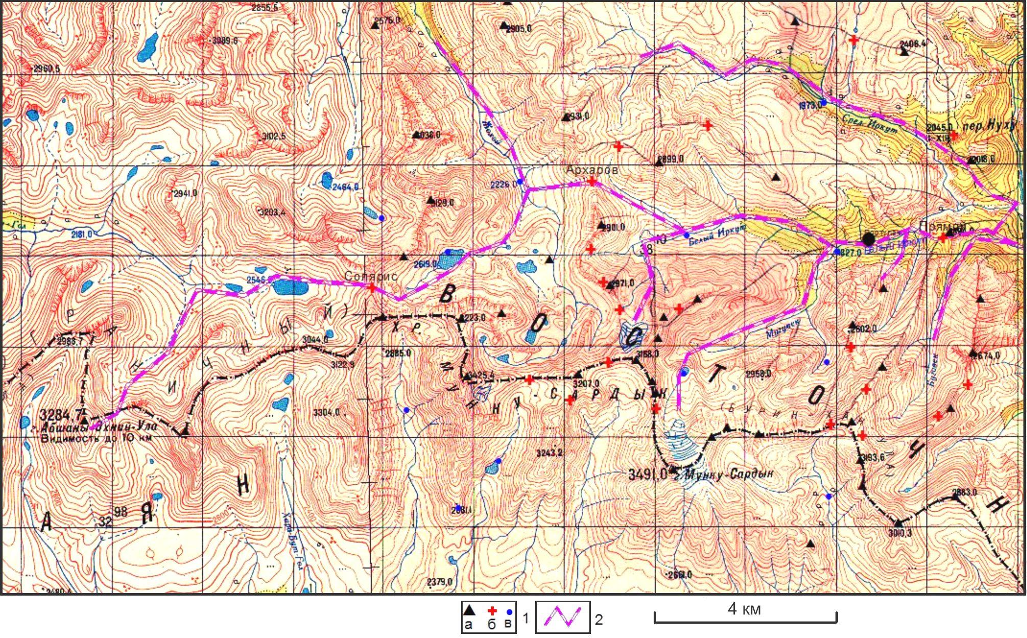 Карта маршрутов 2014 г.