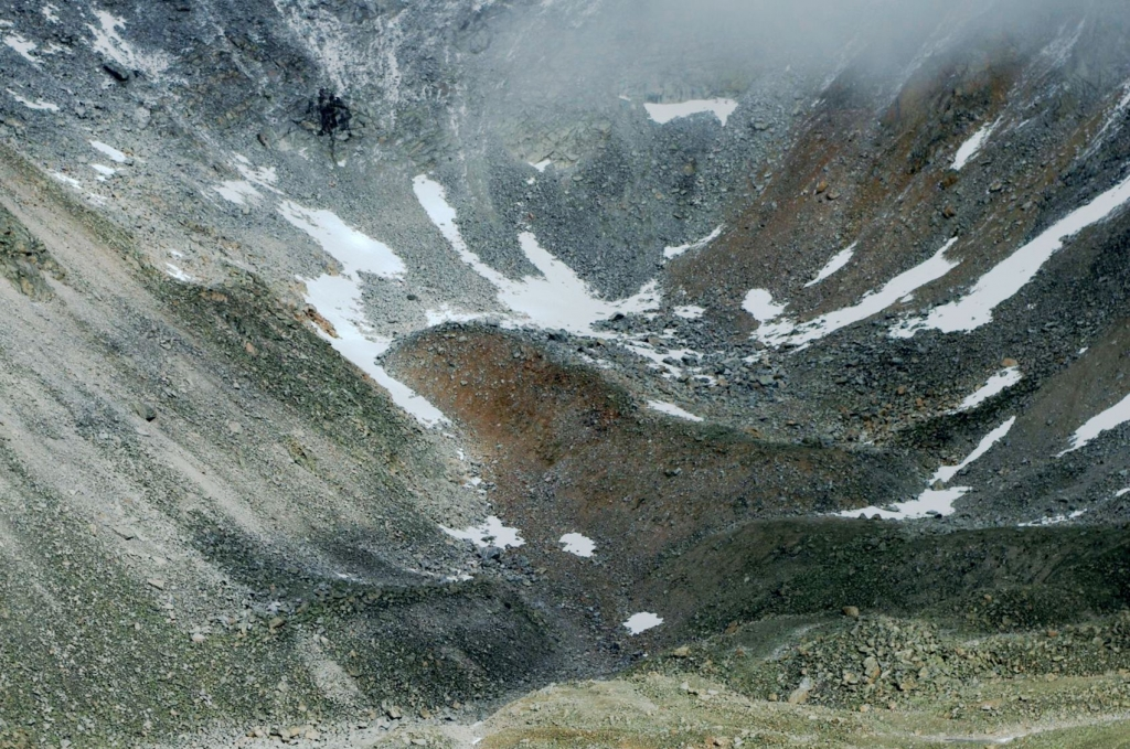 Фото ледника Бабочка с г. Мунку-Сардык
