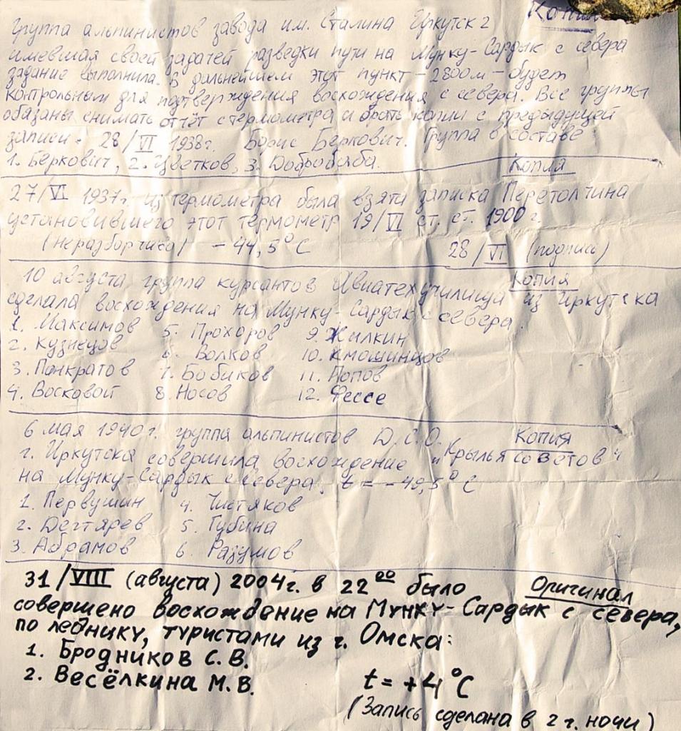 Фото записки из бокса