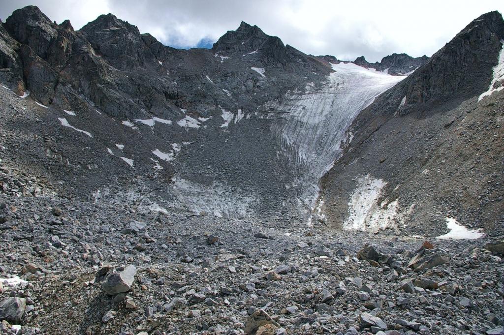 Фото ледника Радде, 2006 г.