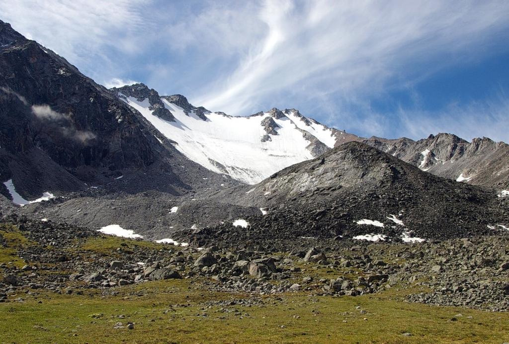 Фото ледника Перетолчина с оз. Эхой