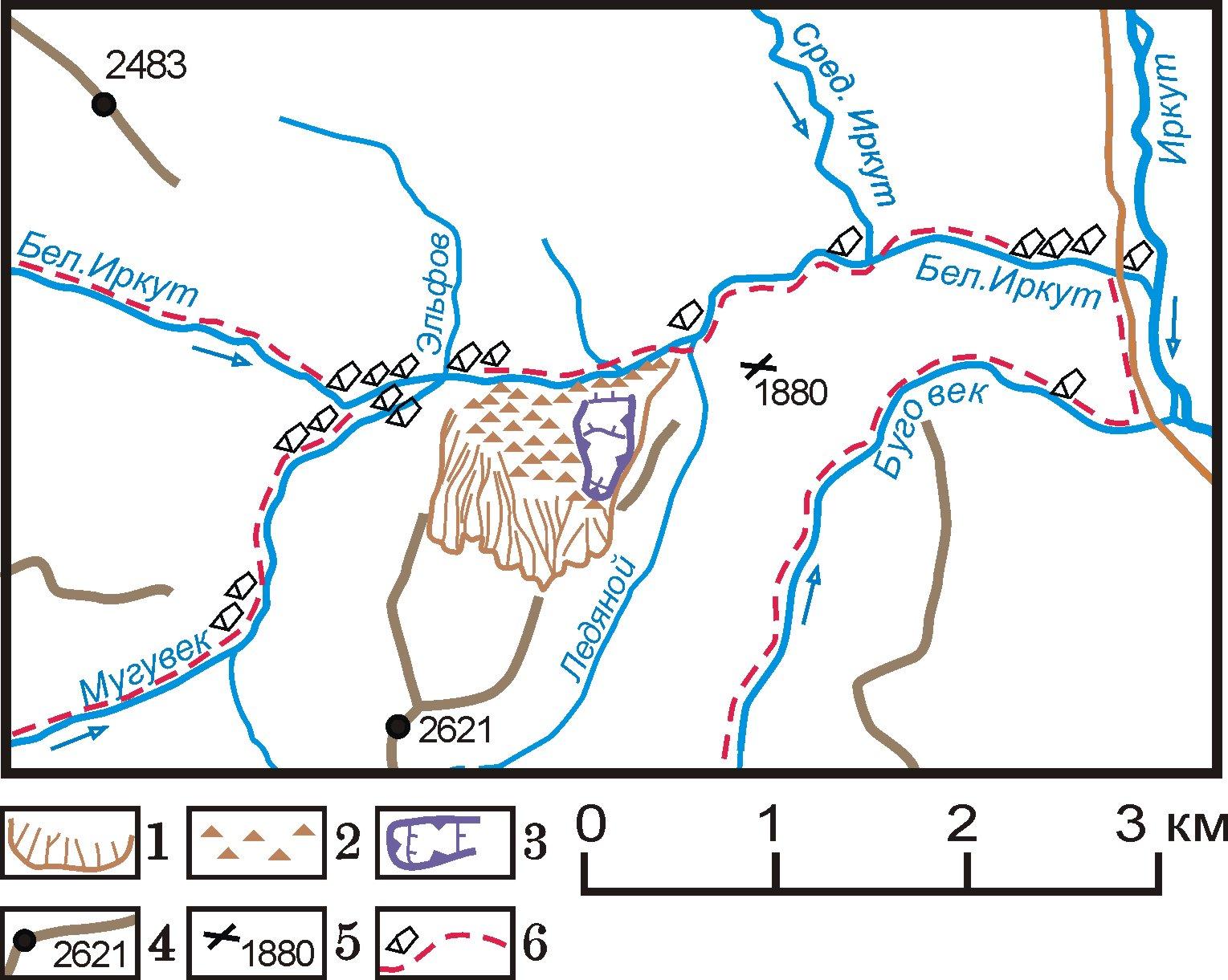 Кам. поток на карте района