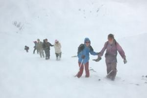 Фото перехода в пургу в горах